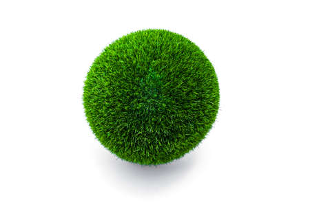 Photo for Green ball from geas on a white background - Royalty Free Image