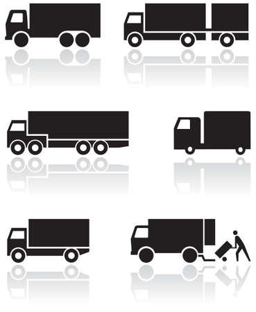 Illustration for Truck or van symbol  set. - Royalty Free Image