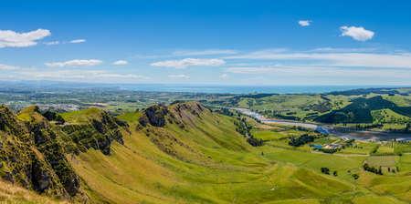 Photo pour Panoramic view from Te Mata Peak Hawkes Bay New Zealand - image libre de droit