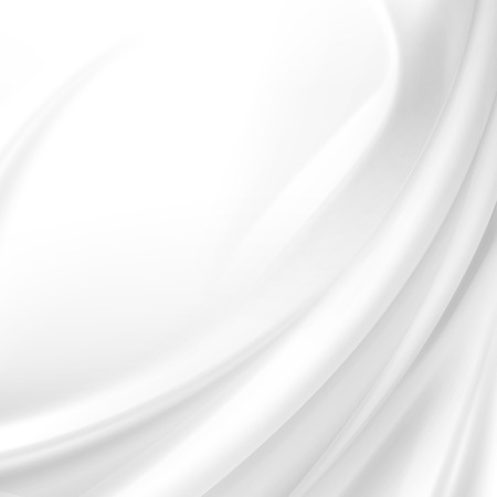 Illustration pour White Satin Silky Cloth Fabric Textile Drape with Crease Wavy Folds. Abstract Background - image libre de droit