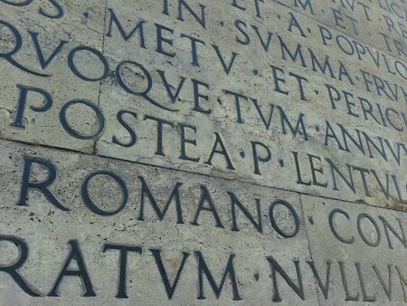 Old inscriptions in Rome