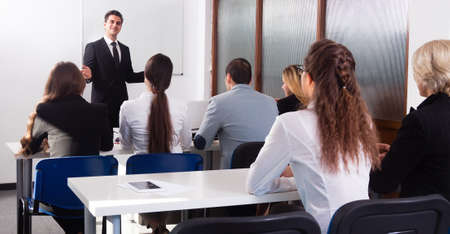 Photo for Students listen to lecture in audience - Royalty Free Image
