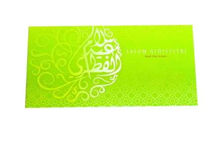Green Packet isolated on white background