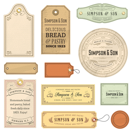 Photo pour Collection of vintage labels. File format is EPS10. - image libre de droit