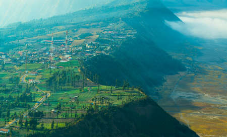 The village on highland close to Mount Bromo