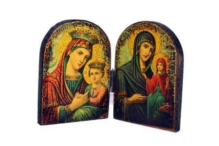 Colorful Greek Orthodox icon