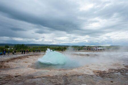 Strokkur, a fountain geyser