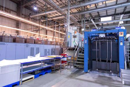 Foto für Close up of an offset printing machine during production - Lizenzfreies Bild