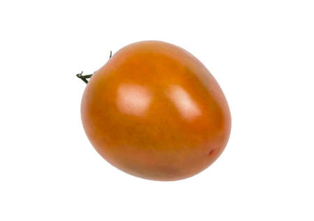 Photo pour Texture detail of a tomatoe in white background - image libre de droit