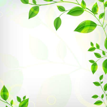 Eco Background, Vector Illustration