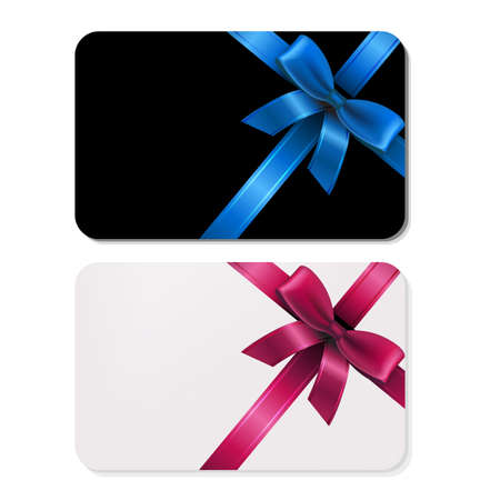 2 Gift Cards, With Gradient Mesh, Vector Illustration