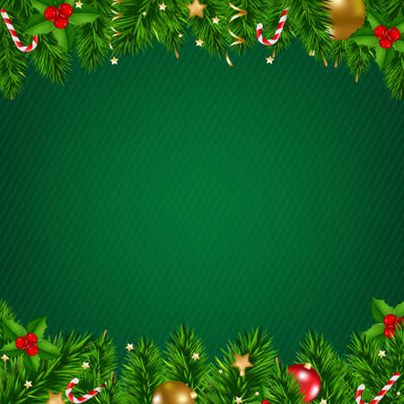 Christmas Poster With Gradient Mesh, Vector Illustration