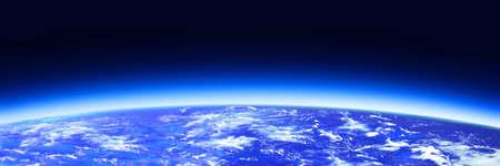 dark blue world globe and space
