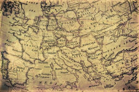 Photo for old grunge map of europe - Royalty Free Image