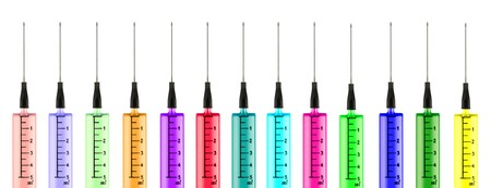 Colorful syringes