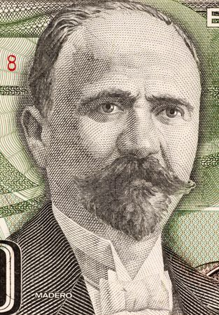 Francisco Madero on 500 Pesos 1984 Banknote from Mexico. Politician, writer and revolutionary. President of Mexico during 1911-1913.