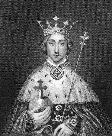 Richard II of England (1367-1400) on engraving from 1830. King of England during 1377-1399. Published in London by Thomas Kelly.