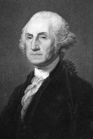 George Washington (1731-1799) on engraving from 1800s. First President of the U.S.A. during 1789-1797  and commander of the Continental Army in the American Revolutionary War during 1775-1783. Considered as Father of his country. Engraved by W.Humphreys a