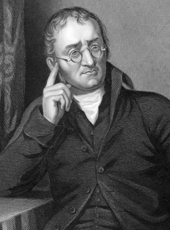 John Dalton (1766-1844) on engraving from 1800s.English chemist, meteorologist and physicist. Engraved by C.Cook after a picture by Allen and published by W.Mackenzie.
