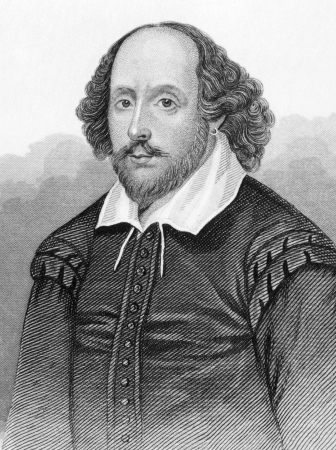 William Shakespeare (1564-1616) on engraving from the 1800s. English poet and playwright, widely regarded as the greatest writer in the English language. Published in London by L.Tallis.
