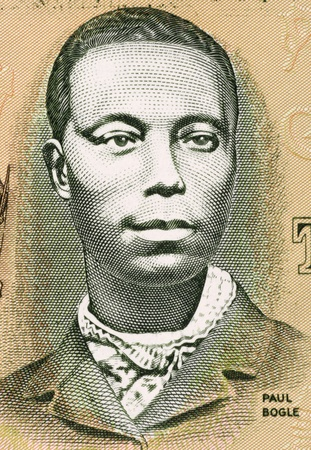 Paul Bogle (1820-1865) on 2 Dollars 1993 Banknote from Jamaica. Jamaican Baptist deacon and national hero.