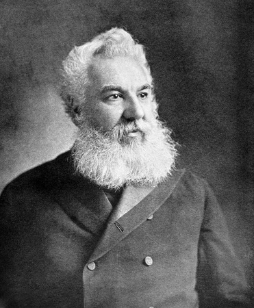 Foto für Alexander Graham Bell (1847-1922) on antique print from 1899. Scientist, inventor, engineer and innovator who is credited with inventing the first practical telephone. After unknown artist and published in the 19th century in portraits, Germany, 1899. - Lizenzfreies Bild