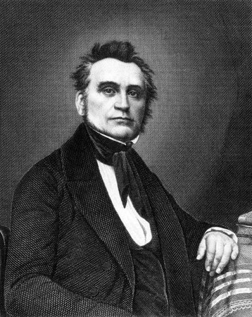Heinrich von Gagern (1799-1880) on engraving from 1859. Statesman who argued for the unification of Germany. Engraved by Nordheim and published in Meyers Konversations-Lexikon, Germany,1859.