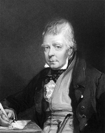 Walter Scott (1771-1832) on engraving from 1834. Scottish historical novelist, playwright and poet. Engraved by H.T.Ryall and published in ''Portraits of Illustrious Personages of Great Britain'',UK,1834.