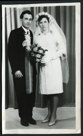USSR - CIRCA 1960s: An antique photo shows wedding