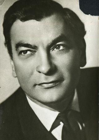 USSR - CIRCA 1960s: studio portrait of man, USSR, 1960s
