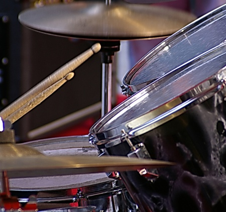 a nice view of a drum player
