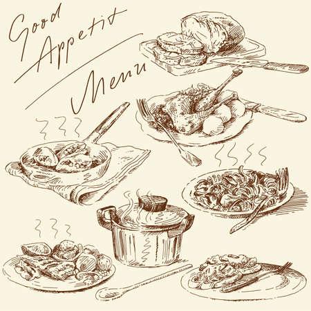 menu-original hand drawn set