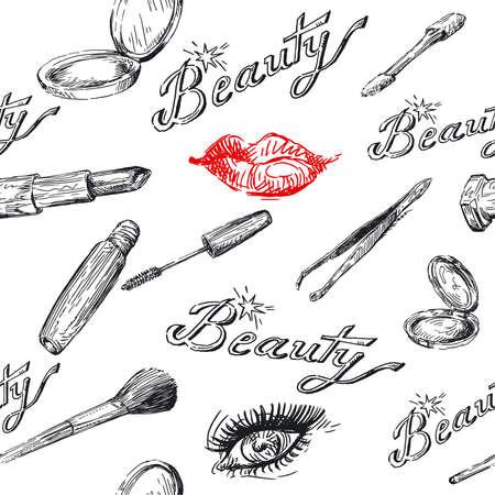 beauty - seamless pattern