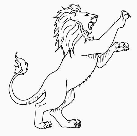 Illustration pour Vector - White Lion Standing - image libre de droit
