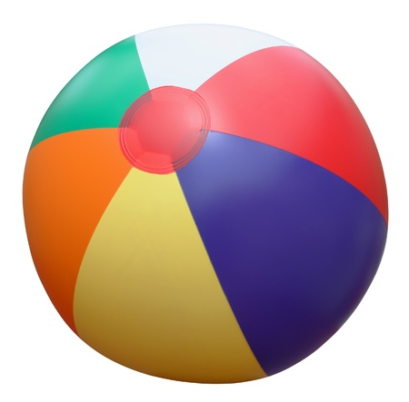 Colorful beach ball isolated on white.