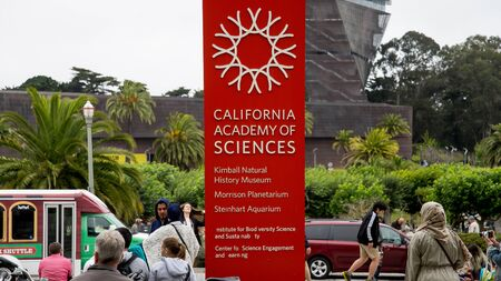 San Francisco, CA, USA - August 2014: California Academy of Sciences, a natural history museum in San Francisco, California. It was established in 1853