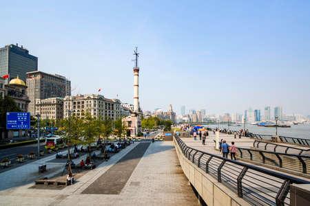 Shanghai Bund beacon square