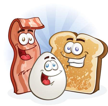 Breakfast Cartoon Characters