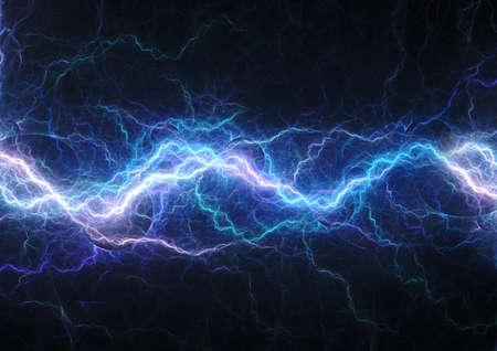 Photo pour Blue lightning, abstract electrical background - image libre de droit