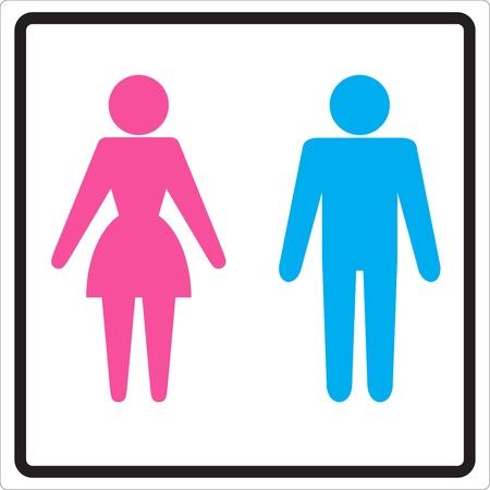 Man Woman restroom sign