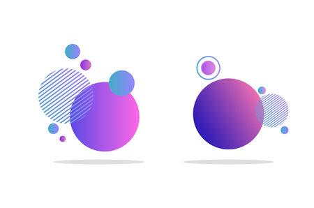 Illustration pour Set of abstract badges, icons or shapes - image libre de droit