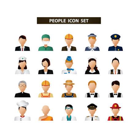 Ilustración de People icon set - Imagen libre de derechos