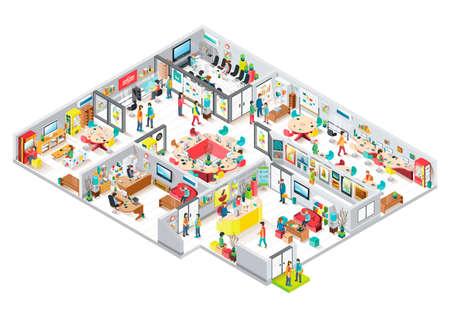 Illustration pour Isometric office - image libre de droit