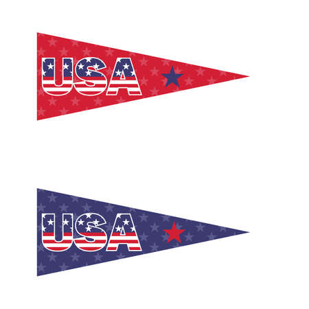 Illustration for usa pennants - Royalty Free Image
