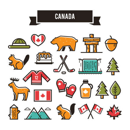 Illustration for A canada icon  illustration. - Royalty Free Image