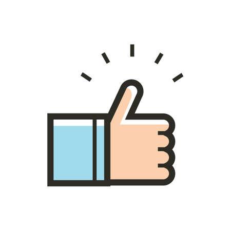 Illustration pour thumbs up icon - image libre de droit