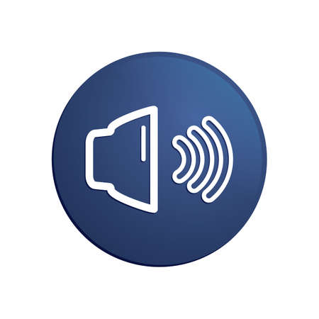 Illustration for volume control icon - Royalty Free Image