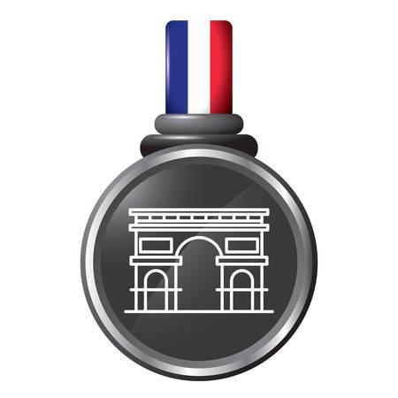 arc de triomphe in a medal