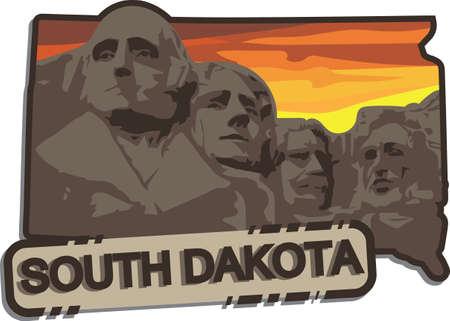 Illustration pour south dakota - image libre de droit