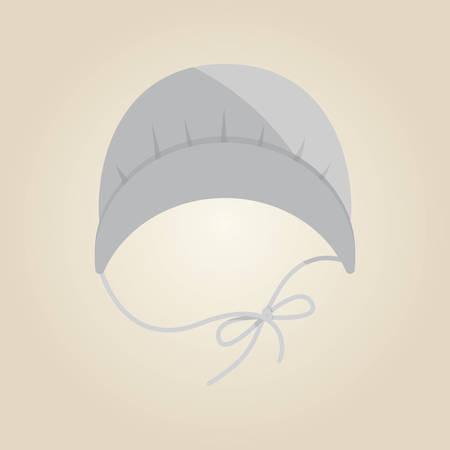 Illustration for pilgrim bonnet - Royalty Free Image